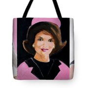Good And Plenty Jackie O  Tote Bag by Candace Lovely