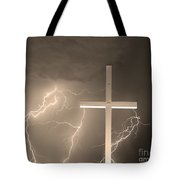 Good Friday In Sepia Tote Bag
