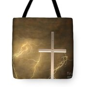 Good Friday In Sepia Texture Tote Bag