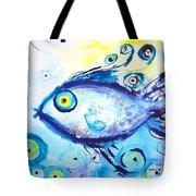 Good Luck Fish Abstract Tote Bag