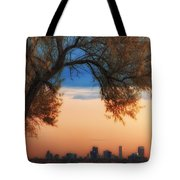 Good Morning Denver Tote Bag by Darren  White