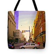 Good Morning Drive By Yonge St Starbucks Toronto City Scape Paintings Canadian Urban Art C Spandau  Tote Bag