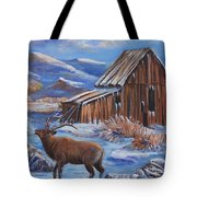 Good Morning Elk Tote Bag