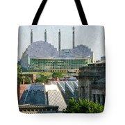 Good Morning Kansas City Skyline Painterly Tote Bag