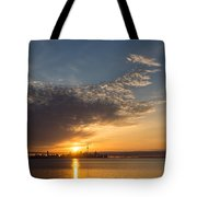 Good Morning Toronto With A Glorious Sunrise Tote Bag