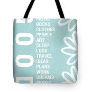 Good Things Blue Tote Bag by Linda Woods