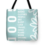 Good Things Blue Tote Bag