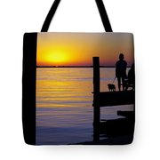 Goodnight Sun Tote Bag by Karen Wiles