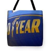 Goodyear Blimp Side Tote Bag by Jeff Lowe