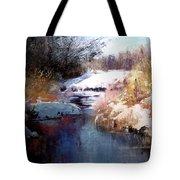 Goose Creek Winter Tote Bag