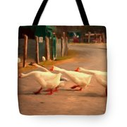 Goose Crossing Tote Bag