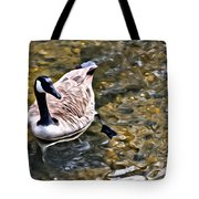 Goose In The Water Tote Bag