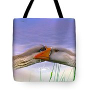Goose Kiss - Featured In Comfortable Art - Nature Wildlife - Wildlife Groups Tote Bag