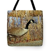 Goose On The Edge Tote Bag