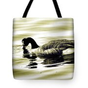Goose Reflecting In The Water Tote Bag