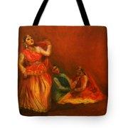 Gopis Distressed As Krishna Is Not Seen Tote Bag