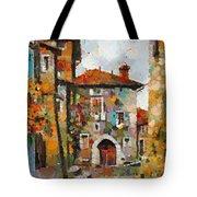 Gordes- Colorful Street Tote Bag
