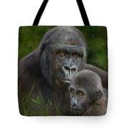 Gorilla And Baby Tote Bag