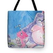 Gorilla Cartoon Tote Bag