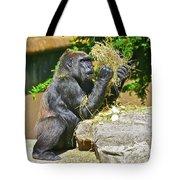 Gorilla Eats Tote Bag