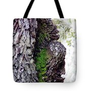Gorilla Face In The Tree Tote Bag