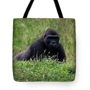 Gorilla On The Hunt Tote Bag