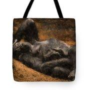 Gorilla - Painterly Tote Bag
