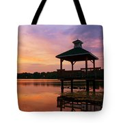Gorton Pond Sunset Warwick Rhode Island Tote Bag