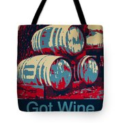 Got Wine Blue Tote Bag
