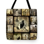 Gothic And Crows Tote Bag