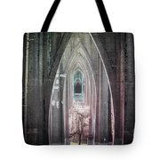 Gothic Arches Hands Folded In Prayer Tote Bag