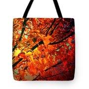 Gothic Autumn Leaves Tote Bag