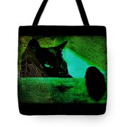 Gothic Black Cat Tote Bag