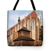 Gothic Church Of St. Catherine In Krakow Tote Bag