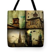 Gothic Churches And Crows Tote Bag
