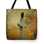 Gothic Fall Crow Tote Bag
