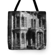 Gothic House Black And White Tote Bag