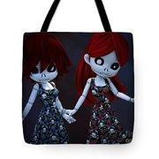 Gothic Rag Dolls Tote Bag