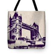 Gothic Victorian Tower Bridge - London Tote Bag