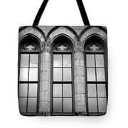 Gothic Windows - Black And White Tote Bag