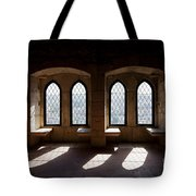 Gothic Windows Of The Royal Residence In The Leiria Castle Tote Bag