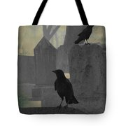 Gothic Winter Blackbirds Tote Bag