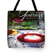Gourmet Cover Featuring A Bowl Of Borsch Tote Bag