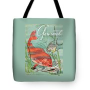 Gourmet Cover Featuring A Snapper And Pompano Tote Bag