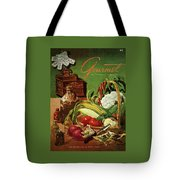 Gourmet Cover Featuring A Variety Of Vegetables Tote Bag