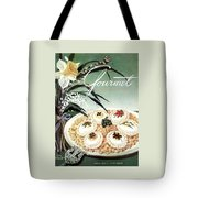 Gourmet Cover Featuring Poached Eggs On Cubed Tote Bag