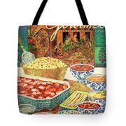 Gourmet Cover Featuring Various Indian Dishes Tote Bag