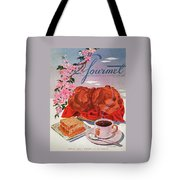 Gourmet Cover Illustration Of A Basket Of Popovers Tote Bag