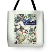 Gourmet Cover Illustration Of Drawings Portraying Tote Bag