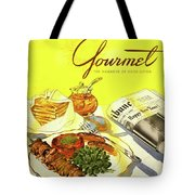 Gourmet Cover Illustration Of Grilled Breakfast Tote Bag